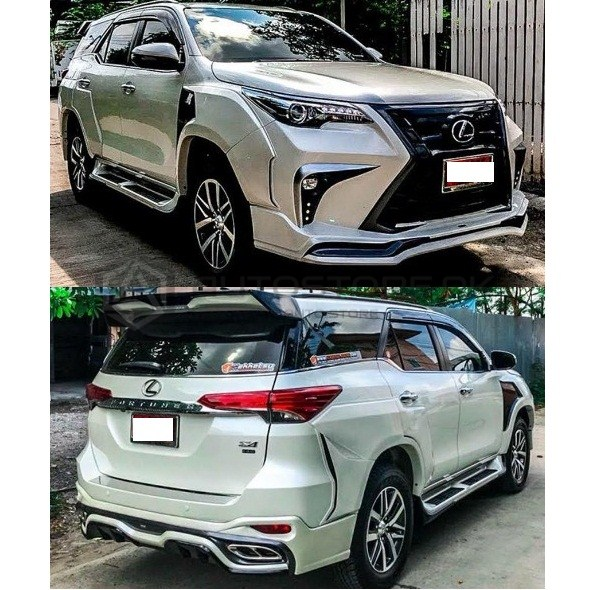 Toyota Fortuner 2020 Lexus Body Kit: Toyota Fortuner LX Sport Wide Body Kit 2016-2019